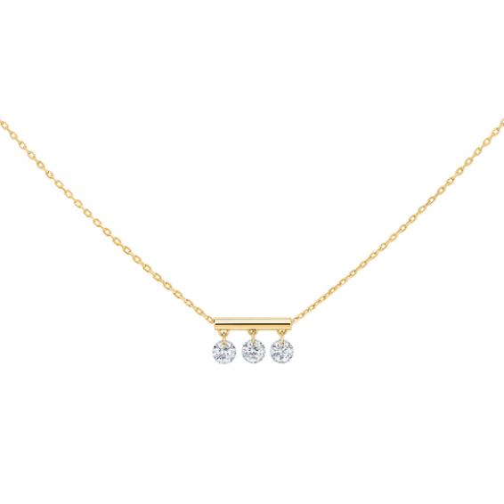 Collier Pampilles - 3 Diamants