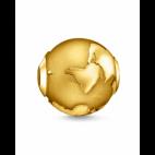 Bead Globe Terrestre Or
