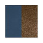 Cuir pour Manchette For Men Marine Soft / Chocolat 14 mm
