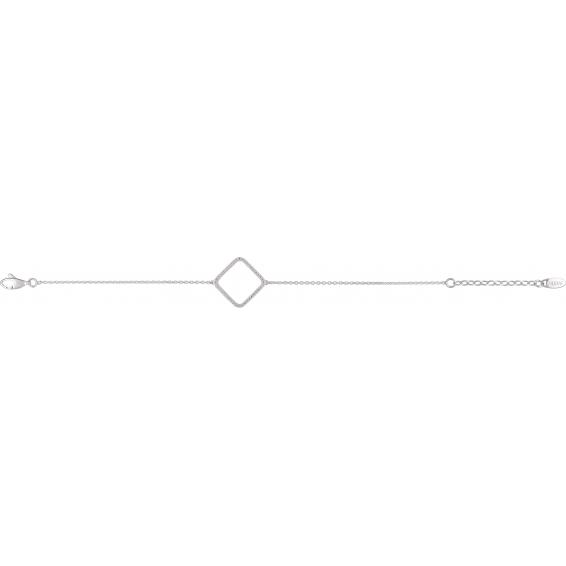 Bracelet Chaîne Carré Graphique
