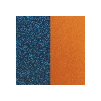 Cuir pour Manchette Miss Georgettes Glitter Bleu / Abricot 12 mm
