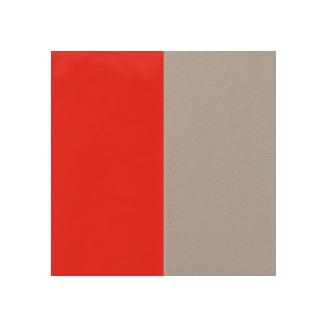 Cuir pour Manchette Miss Georgettes Corail Vernis / Taupe 12 mm