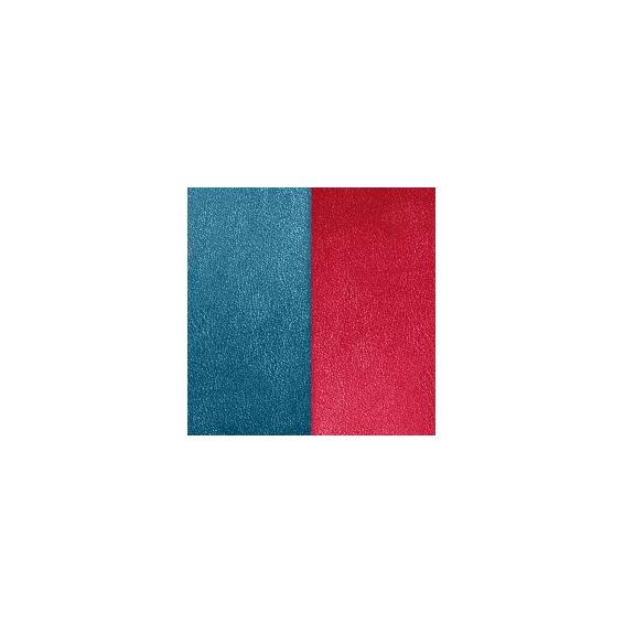 Cuir pour Manchette Miss Georgettes Bleu Pétrole / Framboise 12 mm