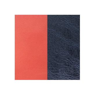 Cuir pour Manchette Miss Georgettes Corail / Bleu Métallisé 12 mm