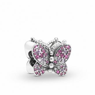 Charm Papillon Rose Éblouissant