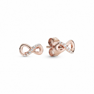 Clous d'Oreilles Infini Scintillants Rose