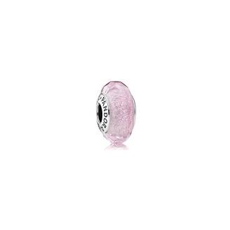 Charm Murano Rose Iridescent