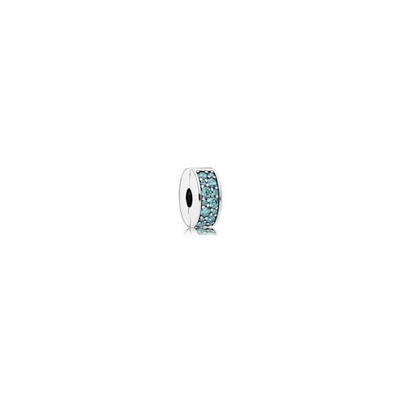 Clip Élégance Brillante Bleu Turquoise