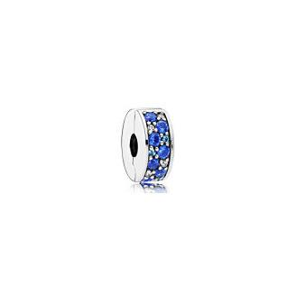 Clip Élégance Brillante Mosaïque Bleue