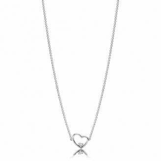 Collier Coeur Asymétrique