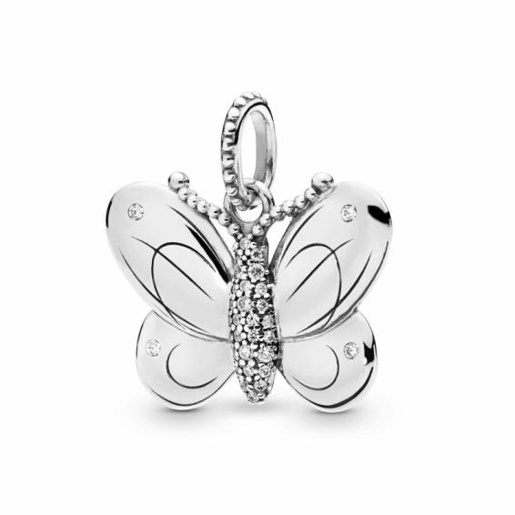 Pendentif Papillon Pavé