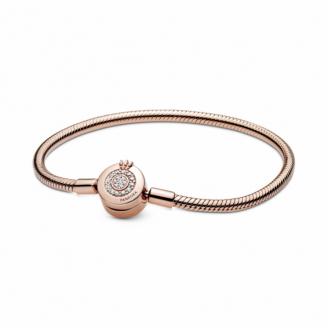 Bracelet Maille Serpent Fermoir O Couronné Scintillant
