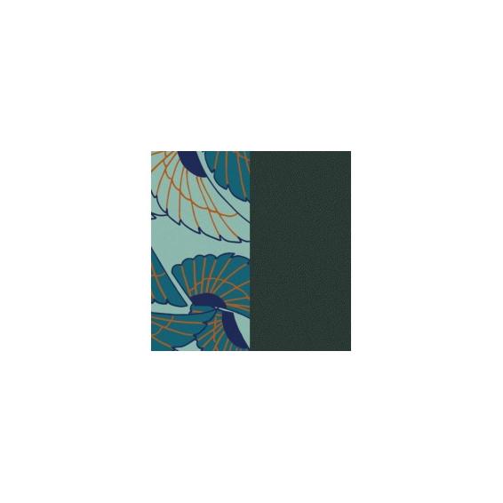 Cuir pour Manchette Ailes / Pétrole 40 mm