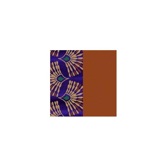Cuir pour Manchette Paon / Cognac 40 mm