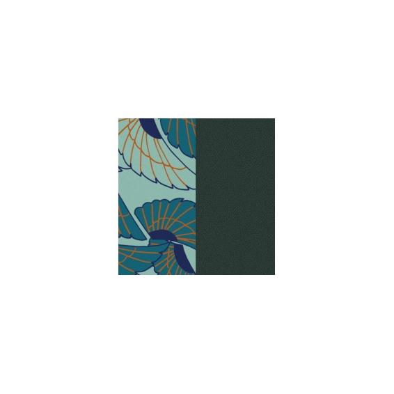 Cuir pour Manchette Ailes / Pétrole 14 mm