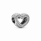 Charm Coeur Ouvert Maille Serpent