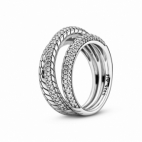 Bague Triple Bande Maille Serpent