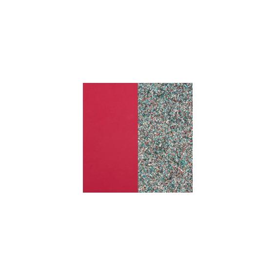 Cuir pour Pendentif Framboise Soft / Paillettes Multicolores 45 mm