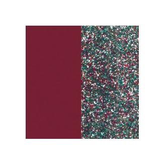 Cuirs pour Boucles d'Oreilles Framboise Soft / Paillettes multicolores 43 mm