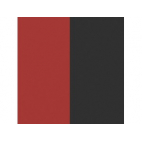 Cuirs pour Boucles d'Oreilles Rouge Vernis / Noir 30 mm