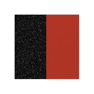 Cuirs pour Boucles d'Oreilles Paillettes Noires / Rouge 43 mm