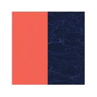 Cuirs pour Boucles d'Oreilles Corail / Marine Métallisé 30 mm