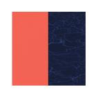 Cuirs pour Boucles d'Oreilles Corail / Bleu Métallisé 43 mm