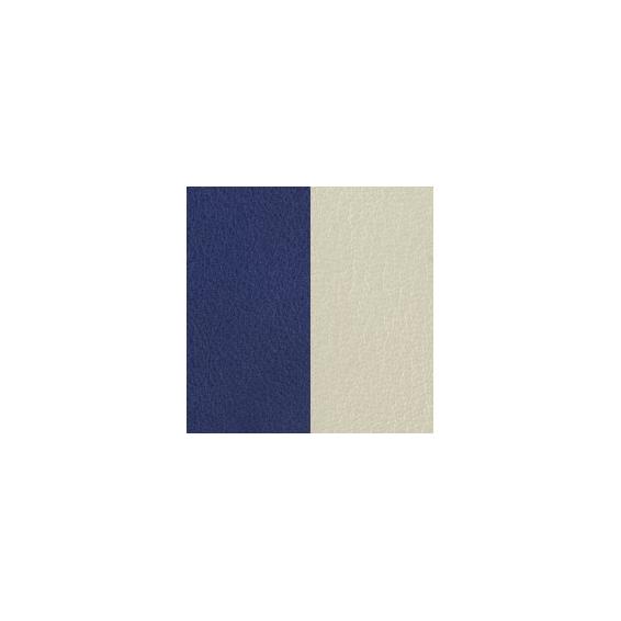Cuir pour Manchette Indigo / Blanc Cassé 8 mm
