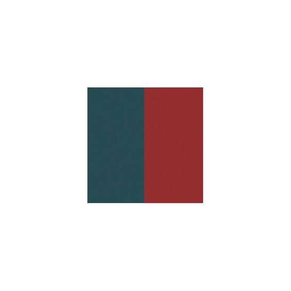 Cuir pour Boucles d'Oreilles Bleu Pétrole / Framboise 43 mm