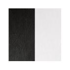 Cuir pour Pendentif Noir / Blanc 16 mm