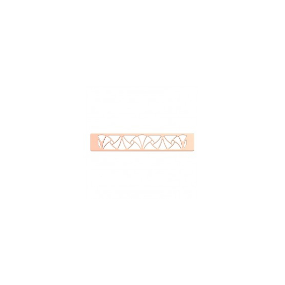 Boucle de Ceinture Finition Dorée Rose Papyrus 25 mm
