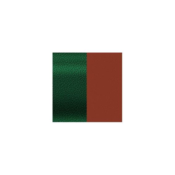 Cuir pour Manchette Malachite/Grenat 25 mm