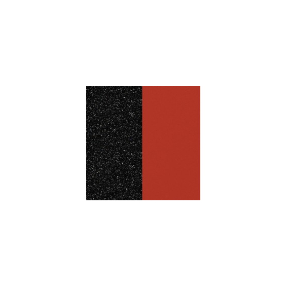 Cuirs pour Boucles d'Oreilles Paillettes Noires / Rouge 16 mm