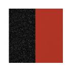 Cuir pour Boucles d'Oreilles Paillettes Noires / Rouge 30 mm
