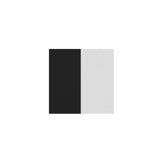 Cuirs pour Boucles d'Oreilles Noir / Blanc 16 mm