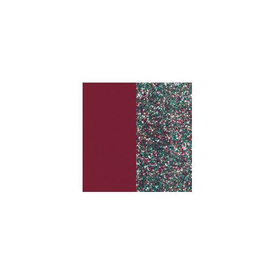 Cuir pour Boucles d'Oreilles Framboise Soft / Paillettes Multicolores 16 mm