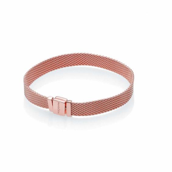 Bracelet Reflexion Maille Milanaise Pandora Rose