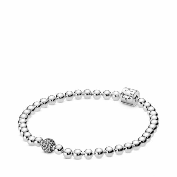 Bracelet Sphère et Pavé