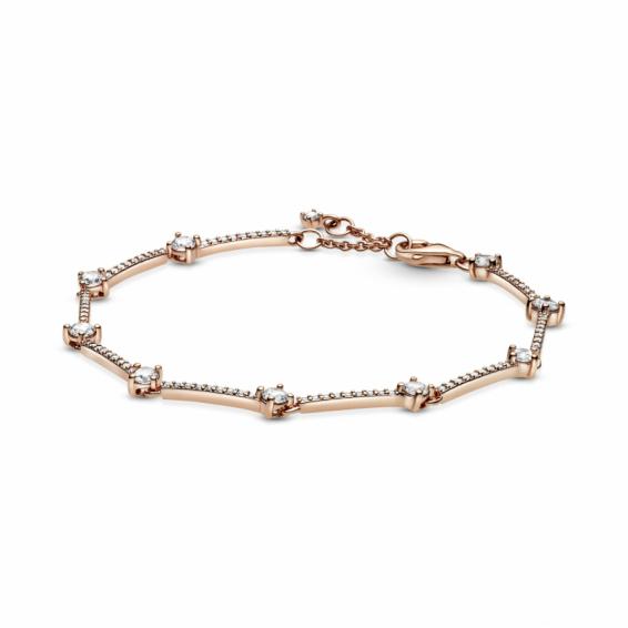Bracelet Barres Pavé Scintillant Pandora Rose