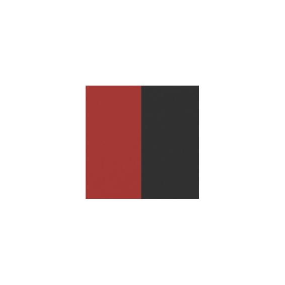 Cuirs pour Boucles d'Oreilles Rouge Vernis / Noir 16 mm